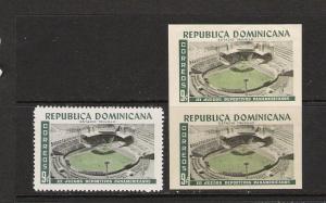 DOMINICAN REP. DOMINICANA SPORTS 515 MNH ERROR 896D