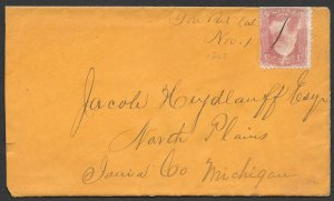 Doyle's_Stamps: You Bet, California, State Postal History - Cover w/1868 Letter