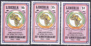 Liberia #1082-4 MNH CV $6.45 (A19186)