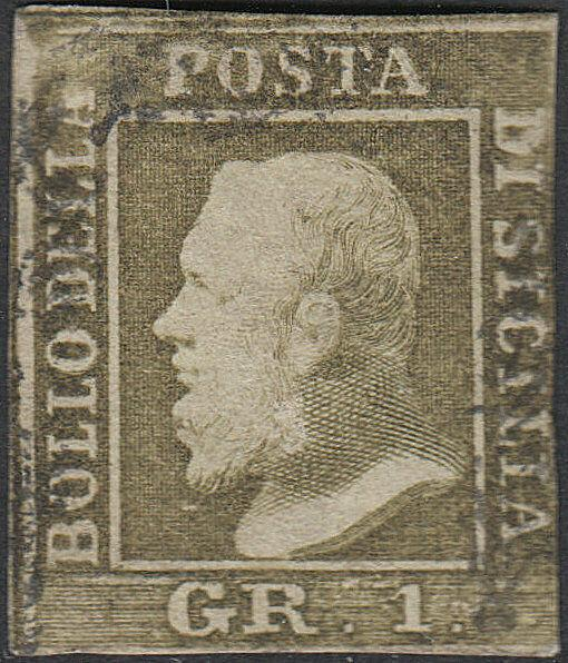 TWO SICILIES 12  1 Gr  Used FVF (51418)