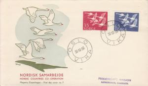 Nordic Council Member Nations Joint Issue 1956 Whooper Swans All Five First Days