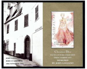Gibraltar 739 MNH 1997 Fashion Designs S/S