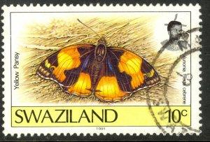 SWAZILAND 1992-2000 10c BUTTERFLIES Issue Sc 601 VFU