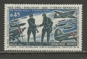 France  #1253  MH  (1969)  c.v. $1.00