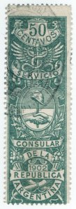 (I.B) Argentina Revenue : Consular Service 50c