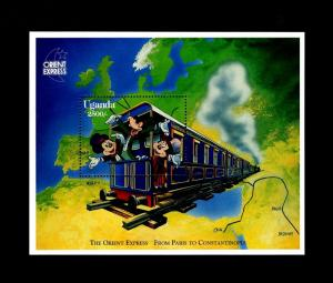 UGANDA - 1996 - DISNEY - MICKEY - TRAIN - ORIENT EXPRESS - MINT - MNH S/SHEET!