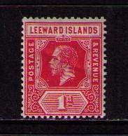 LEEWARD ISLANDS Sc# 48 MH F WMK3 King George V KGV