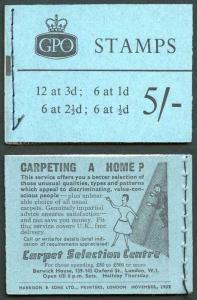SGH40 5/- GPO Wilding Booklet November 1959
