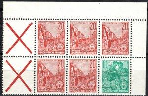 DDR #333a  MNH  Booklet Pane CV $4.00 (X2666)