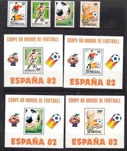 Z2397 1982 senegal set mh+ 4 s/s mnh #583-90 sports