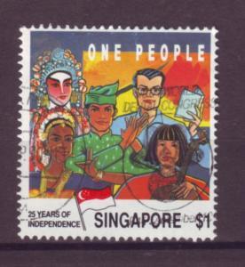 J21431 Jlstamp 1990 singapore hv of set used #579 people