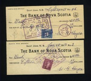 Canada    2 different postal stationary BNS used   PD