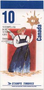 Canada - 1993 43c Christmas Personages Booklet #BK163b