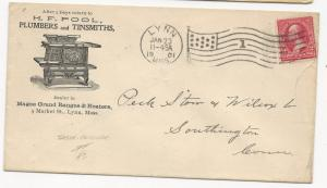 US AD COVER H.F. Pool Plumbers & Tinsmiths Lynn, MA January 23, 1901