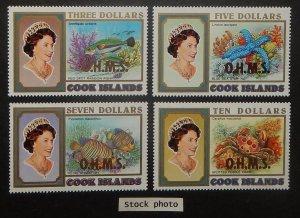 Cook Islands O66-69. 1998 $3.00-$10.00 QE Officials, NH