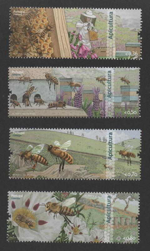 stamps 2013 PORTUGAL  BEEKEEPING BEES HONEY INSECTS APICULTURE MIEL BEE INSECT