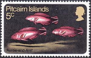 Pitcairn Islands # 114 mnh ~ 5¢ Fish - Groupers