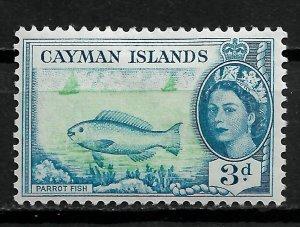 1955 Cayman Islands Sc141 Parrot Fish 3d MHR