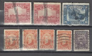 COLLECTION LOT # 2922 CANADA 8 STAMPS CLEARANCE 1927 CV+$21