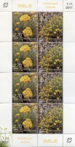 Bosnia & Herzegovina 2017 MNH Flora Helychrisum 8v M/S Plants Flowers Stamps
