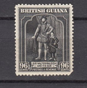 J26589  jlstamps 1934 Br guiana  mh #221 walter raleigh, 2 scans
