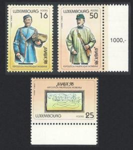 Luxembourg 'Juvalux '98' Youth Stamp Exhibition 2nd issue 3v SG#1475-1477