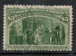 USA #242 Used Fine - Small Thin At Top