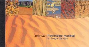 UN Geneva 1999 MNH Sc #335 Booklet Australia: World Heritage and the Dreamtime
