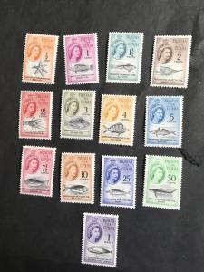 Tristan da Cunha #42-54 Complete Set Of 13. F-VF-LH-NH