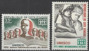 Ivory Coast  325-6  MNH  International Book Year