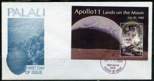PALAU 2006 APOLLO 11 LANDS ON THE MOON SOUVENIR SHEET FIRST DAY COVER