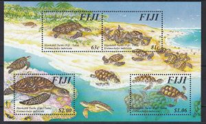 FJ52) Fiji 1997 Hawksbill Turtle M/S MUH. Price: $9.75