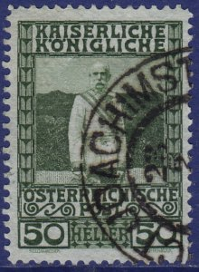 Austria - 1908 - Scott #121 - used - ST. JOACHIMSTHAL pmk Czech Republic
