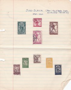 yugoslavia stamps on 2 folded pages   ref r14367