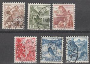 Switzerland stamps, used set of 7 stamps,   #M311 RB