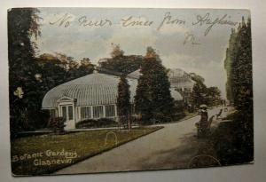 Vintage 1917 Botanic Gardens Glasnevin Lusk Ireland Real Picture Postcard Cover
