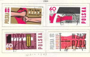 Poland Scott 1241-1243 Used CTO  stamp set