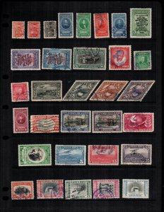 Costa Rica  32  different used and mint hinged