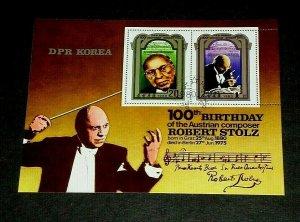 KOREA, 1980, ROBERT STOLZ, COMPOSER, MUSIC, CTO, SOUVENIR SHEET/2, NICE! LQQK!