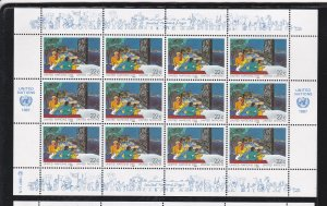 United Nations - New York # 515-516, Multinational People. Full Sheet, NH, 1/3