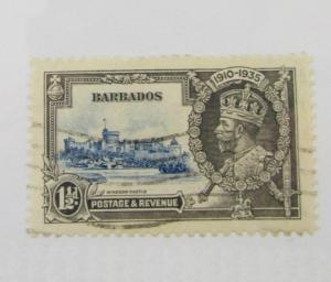 Barbados Scott #187 Windsor Castle 1½d  Θ used, very fine + 102 card, superfleas