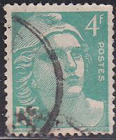 France 596 Hinged Used 1948 Marianne