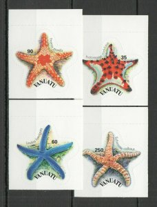 W1289 VANUATU MARINE LIFE SEA STARS #1204-7 MICHEL 8 EURO SELF-ADHESIVE 1SET FIX