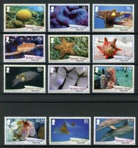 British Virgin Isl BVI 2017 MNH Sea Life Definitives 12v St Fish Dolphins Stamps
