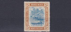 BRUNEI  1907  S G 30   25C   BLUE & BROWN   MH