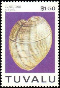 Tuvalu #671-674, Complete Set(4), 1994, Seashells, Never Hinged