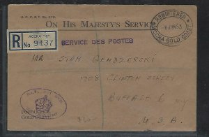 GOLD COAST (P2708B)  1953  OHMS REG ACCRA TO USA