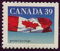 Canada - 39c Flag ex Booklet w. Scarce Perf. mint #1189b