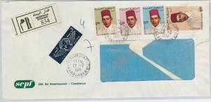 61190  -  MOROCCO - POSTAL HISTORY -  REGISTERED COVER  to ITALY  1971