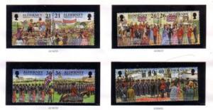 Alderney Sc 119-26 1998 Garrison Island stamp set mint NH